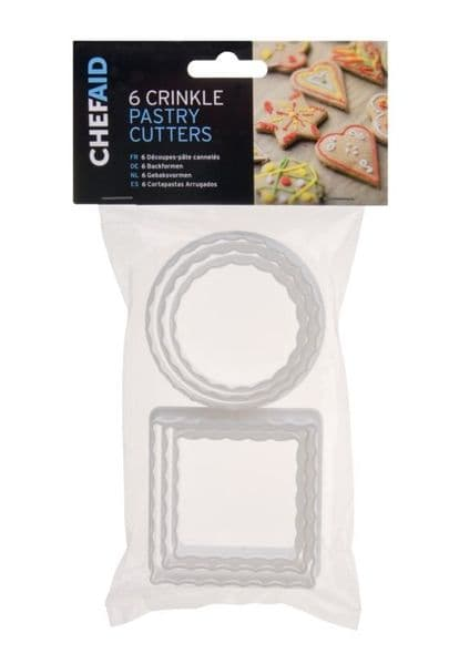 Chef Aid Pastry Cutters - Pack 6